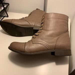 Laceup combat boots